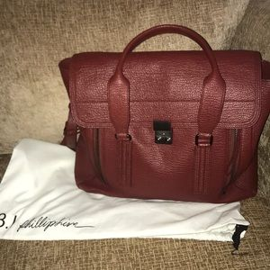 Large Pashli in Oxblood red AUTHENTIC